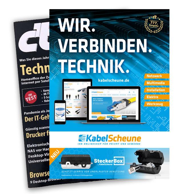 Anzeigengestaltung in Fachmagazin KabelScheune Burg Bernheim