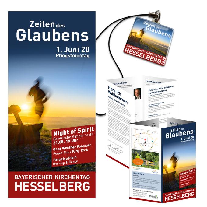 Print Faltflyer und Giveaway Bayerischer Kirchentag Hesselberg