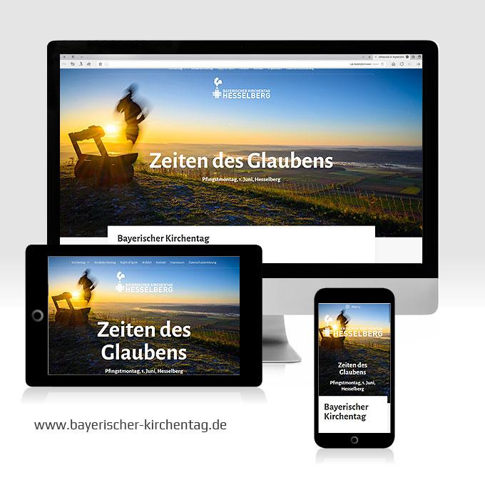 Responsive Webdesign Bayerischer Kirchentag Hesselberg