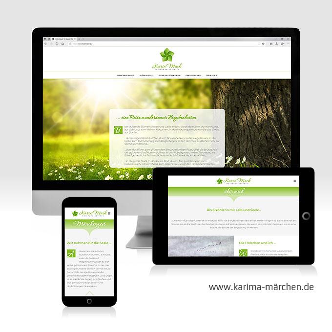 Webdesign CMS Karin Mack Ansbach
