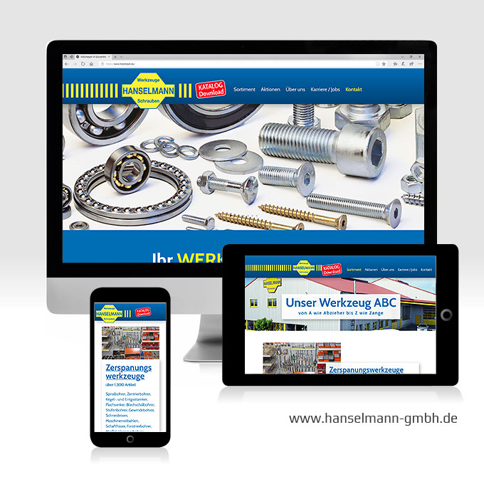 Website-Erstellung Wordpress CMS Hanselmann Crailsheim