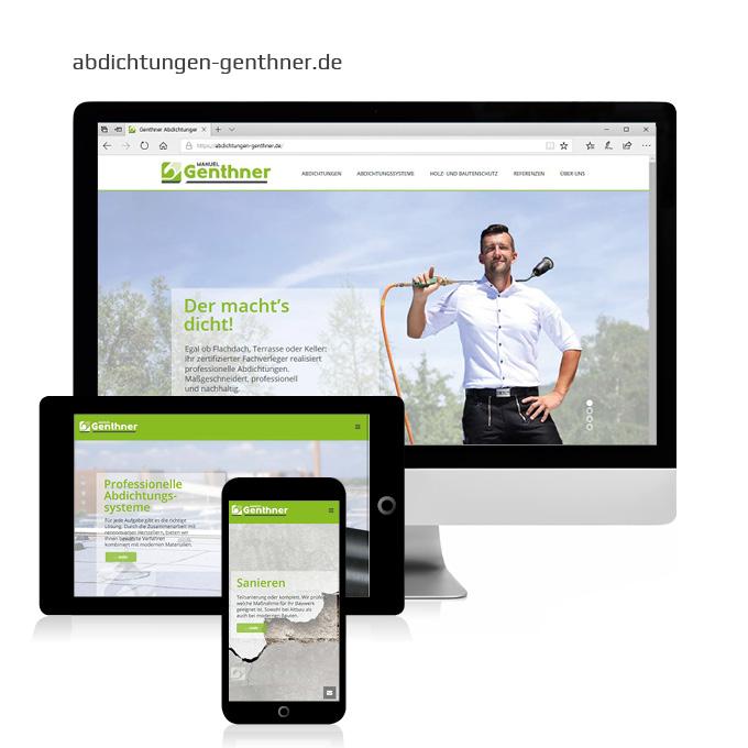 Webdesign Abdichtungen Genthner Geslau