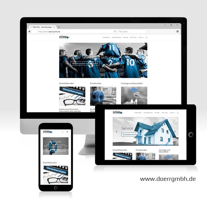 Webdesign Doerr Versicherungsmakler Sachsen bei Ansbach