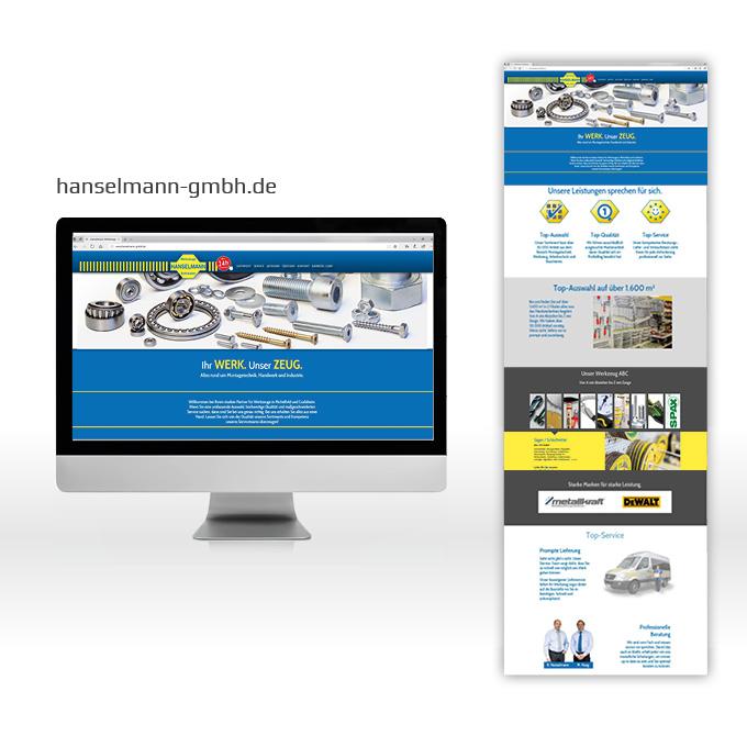 Webdesign Onepage Hanselmann Crailsheim