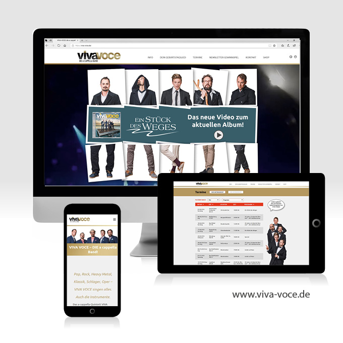 Webdesign Viva-Voce Ansbach Datenbankanbindung
