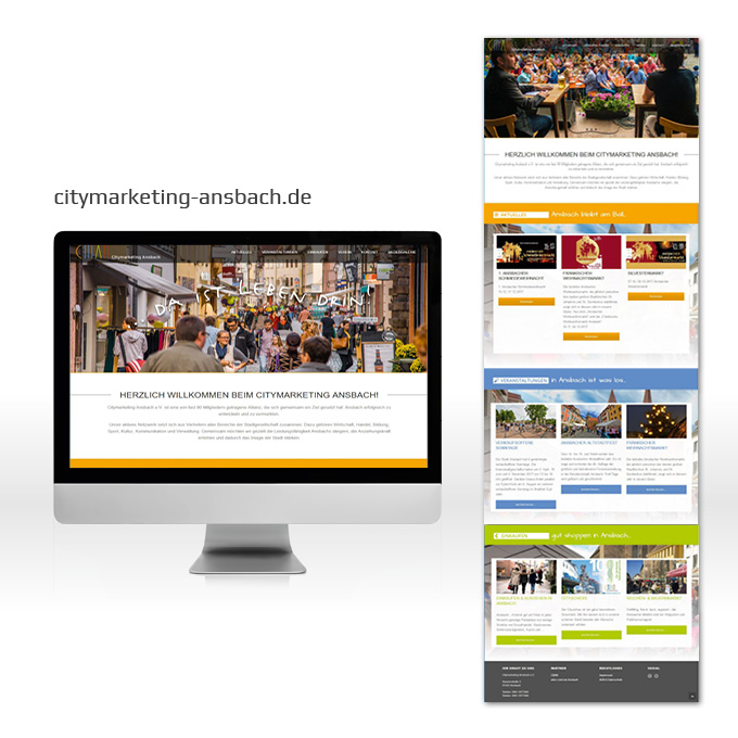 Webdesign Wordpress Citymarketing Ansbach